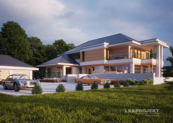 LK&1295 #dom #nowoczesny #design #modernstyle #modernhouse #exterior #house  http://lk-projekt.pl/lkand1295-produkt-9619.html