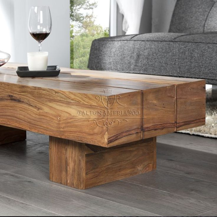 Buy Low Height Solid Coffee Table By Wood Dekor Online: 26 Best Tavoli E Tavolini In Legno Massello Images On
