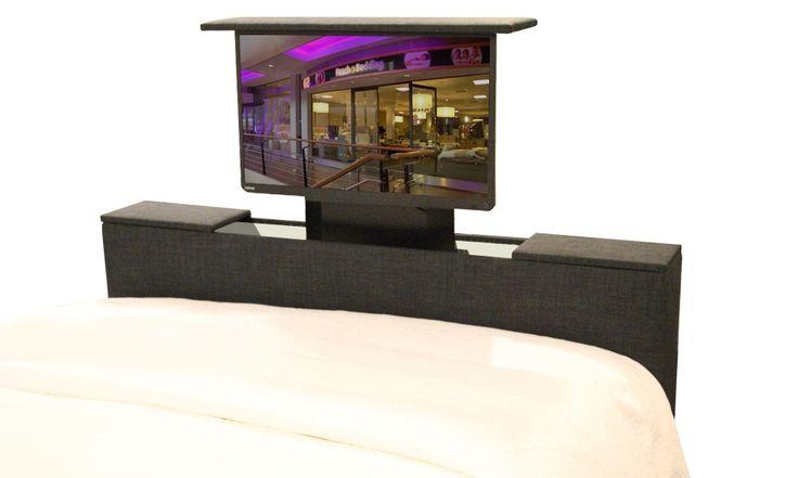Afbeeldingsresultaat voor bed voeteneind met tv-lift