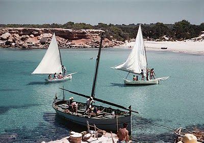 Cala Sahona, 1958.