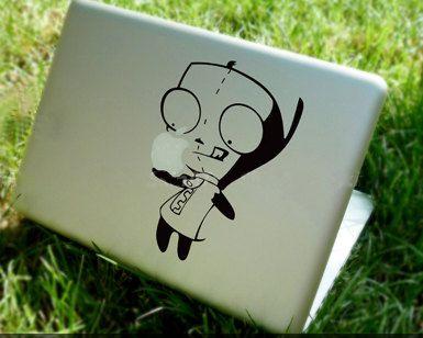gir.: Mac Decals, Invader Zim, Graffiti07 Macbook Decals, Decals Macbook, Macbook Air Decals, Macbook Pro Decal