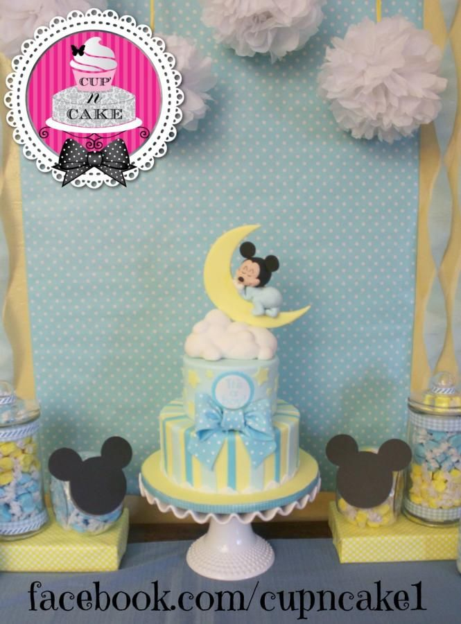 Baby Mickey baby shower cake - Cake by Danielle Lechuga                                                                                                                                                     More