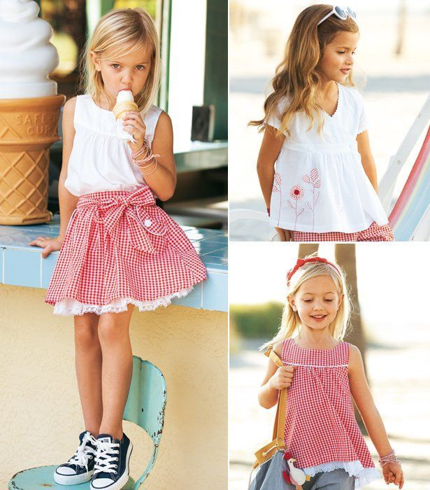"""Gingham Girls"" - 9 new (adorable!) patterns from @BurdaStyle #sewing #patterns"
