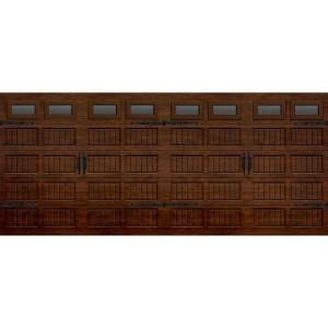 Martin Garage Doors, Wood Collection Silverlake 16 ft.x7 ft. Grooved Panel R8 Insulation Walnut Woodgrain Full View Clear Window Garage Door, HDIY-001106 at The Home Depot - Mobile