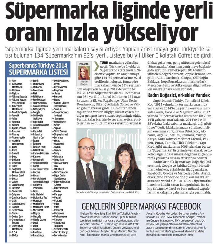 """"""" VİKO SÜPER MARKALAR ARASINDA """" Türkiye'de 2 yılda bir Superbrands tarafından Nilsen'e yaptırılan araştırmaya göre belirlenen 134 marka arasında VİKO da yer aldı. Bu gururda katkısı bulunan tüm paydaşlarımıza teşekkür ederiz. Süper Marka nedir? Tüketicilerin, (bilinçli veya bilinçaltı) arzuladıkları, tanıdıkları ve bir ücret ödeyerek sahip olmak istedikleri, duygusal veya fiziksel avantajları, diğer markalara göre çok daha yüksek oranda sunan markaya """"Süper Marka"""" deniyor."""