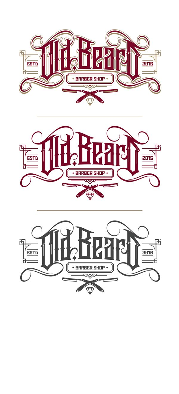 Old Beard (Barber Shop) Logo on Behance                                                                                                                                                                                 Más