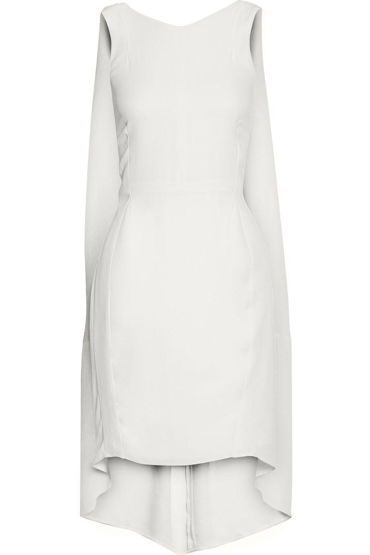 Narciso Rodriguez|Cape-back crepe dress|NET-A-PORTER.COM