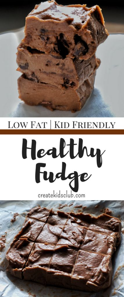 With low calories, this is an easy, healthy fudge recipe.  Made with coconut oil, banana, peanut butter, and chocolate, its super simple. Healthy Fudge | Healthy Snacks | Simple Snacks | Kid Friendly | Low Carb | Sugar Free Snacks | Chocolate Fudge | Fudge Made From Bananas | Freezer Fudge via createkidsclub.com