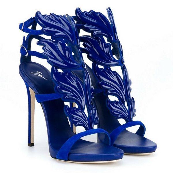 Giuseppe Zanotti Design Blue 'Cruel' Sandals