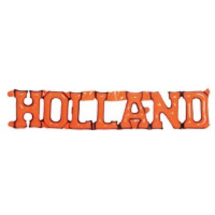 Opblaas tekst Holland in onze kleur, Oranje natuurlijk. Deze opblaasbare letters met de tekst Holland kunt u eenvoudig met de 5 meegeleverde zuignappen op het raam bevestigen of met een touwtje aan de muur ophangen. Vlaggenclub heeft nog veel meer vrolijke, originele Oranje versieringen en feestartikelen. Kijk op https://www.vlaggenclub.nl/overige-vlaggen/koningsdag-oranjefeest.html en laat je verrassen!