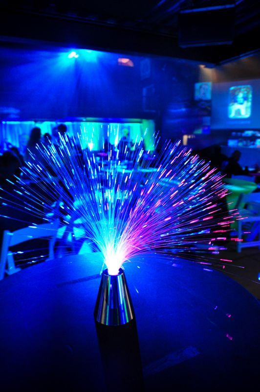 Blue Fiber Optic Table Decorations