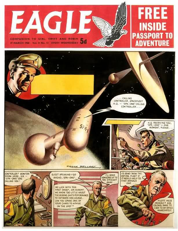 Dan Dare is a British science fiction comic hero, created by Marcus Morris and illustrator Frank Hampson . Dare first appeared in Eagle...