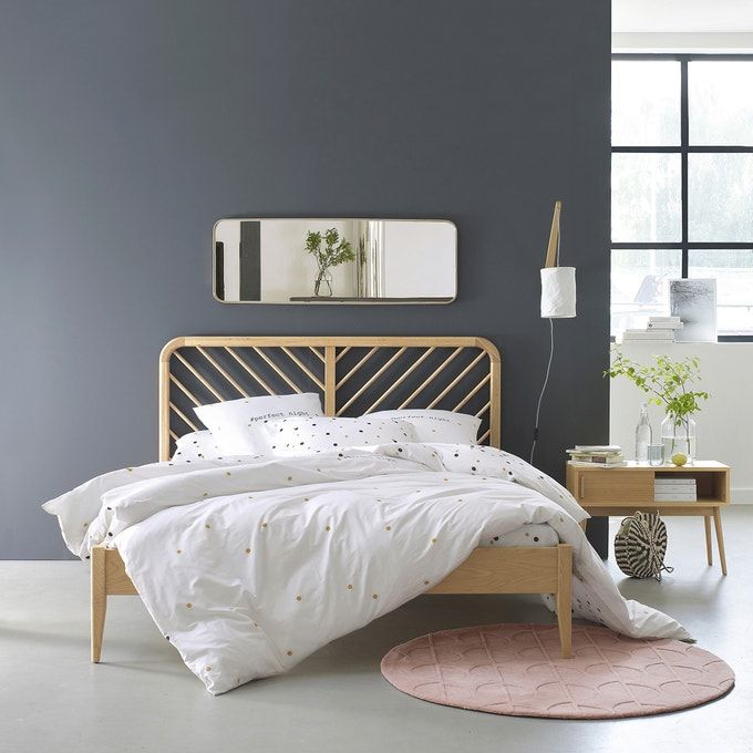Anda Solid Oak Bed With Base In 2020 Solid Oak Beds Home