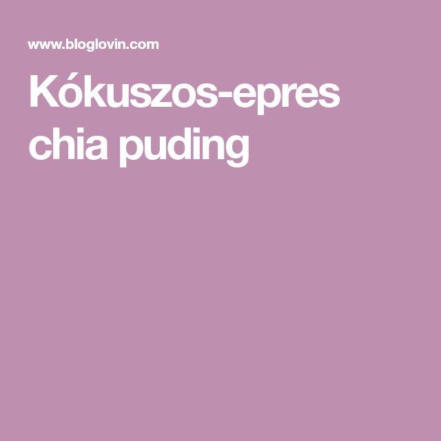 Kókuszos-epres chia puding