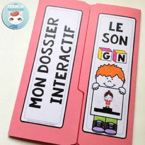 French Phonics Resources: dossier interactif – le son GN. French interactive lapbook to practice the sound GN, as in cyGNe, araiGNée, etc.