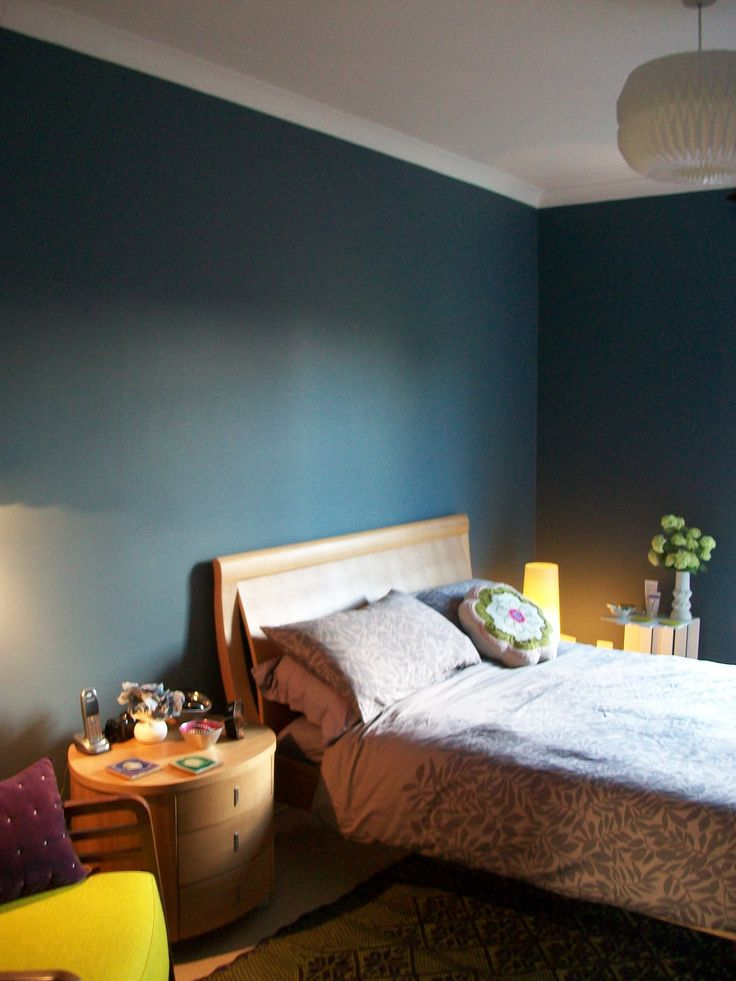 Dulux Blue Walls Bedroom Steel Symphony 1 Dark Blue With
