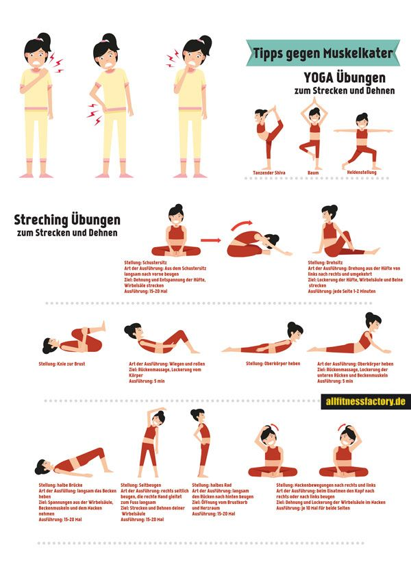 ✓ Tipps gegen Muskelkater 10 tägliche Top Übungen gegen Muskelverspannung ✓ Warum ist Stretching wichtig ✓ Wie Tipps gegen Muskelkater mir im Alltag helfen