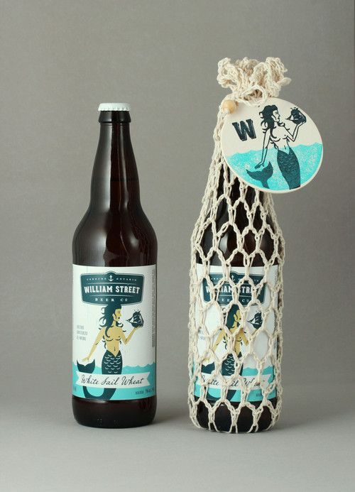 """William Street Beer Co. is Ontario's newest craft brewery located in the  idyllic port-side town of Cobourg. William Street wanted to acknowledge  Cobourg's marine heritage without appearing too stuffy, so we created a  series of whimsical maritime characters that reflect the eccentric spirit  of the townsfolk. The hangtags attached by reef-knotted nautical rope  complete the look."""