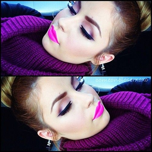 Pop of #pink Makeup