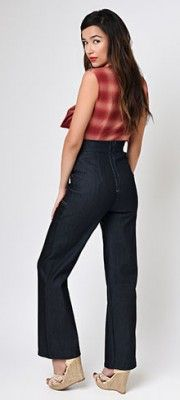 Pin Up Pants - High-Waisted Jeans, Cigarette Pants, Capris | Unique Vintage
