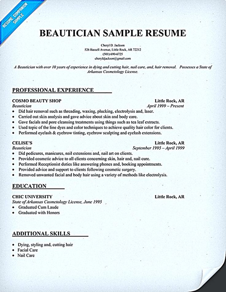Cosmetologist resume is used by cosmetologist to get applied or employed. As a cosmetologist, you are a professional person that expert in the care of... sample cosmetologist resume