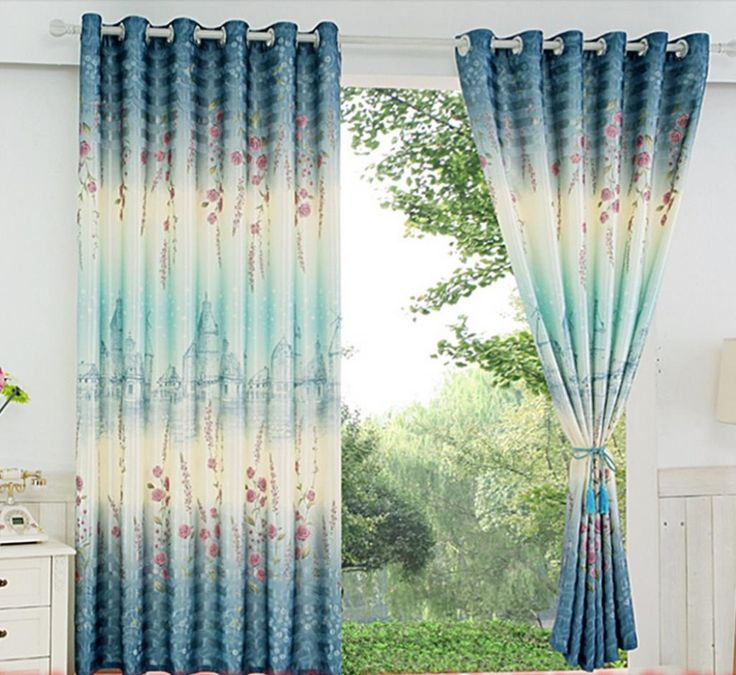 Curtain finished clearance wave short window curtain   Half a bedroom balcony curtain shading cloth