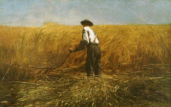 Winslow Homer-The veteran in the new field