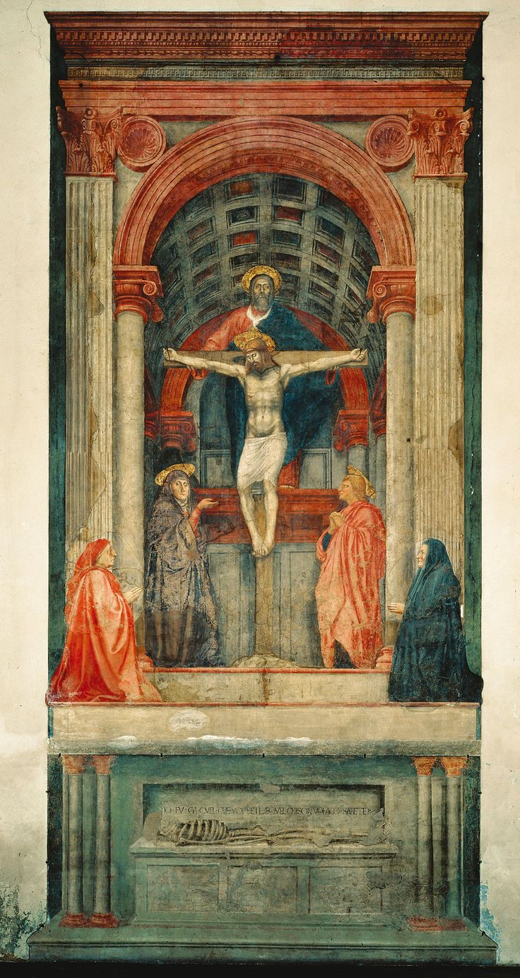 an analysis of the holy trinity a fresco by masaccio Masaccio's the holy trinity fresco is considered to be the first painting based on the start studying art 1301-56312 tcc northeast quiz9 learn.