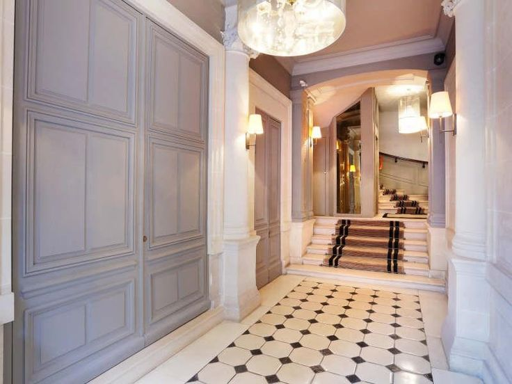 Saint Philippe du Roule in Paris, France      |     This ideal 1,400 square feet pied-à-terre is composed of a large entrance hall, a double living room with open kitchen, 2 spacious bedrooms with en suite bathrooms.  via @danielfeau