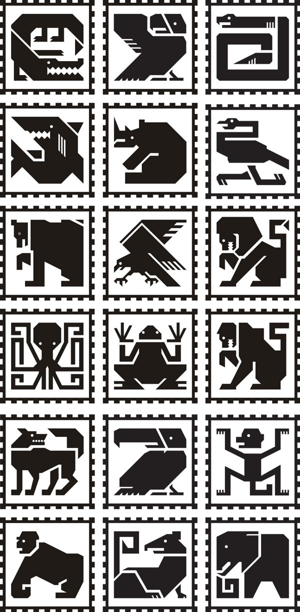 Maya Zoo Pictogram System by Aldebaran Dobrica, via Behance