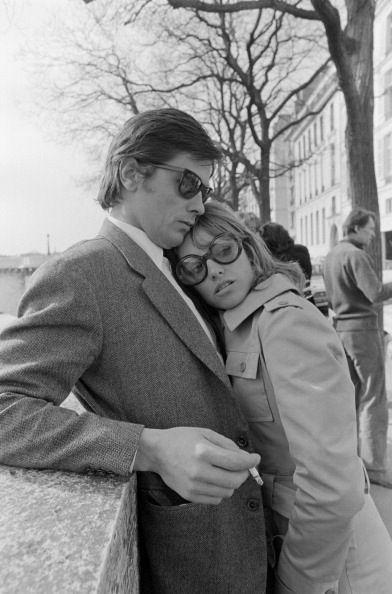 Nathalie & Alain Delon.