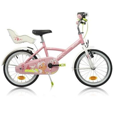 #Location vélo conçu pour LES ENFANTS de 4-6 ans (105 à 120 cm). Tout équipé, garde boue, porte poupée, béquille.Location Vélo enfant 16 pouces PRINCESS Girl à Albias (82350) _ www.placedelaloc.com/location/sport-loisirs