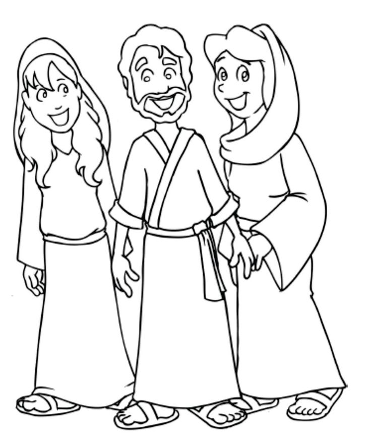 mary martha lazarus coloring pages | 55 best Gospel Mary & Martha 16 images on Pinterest ...