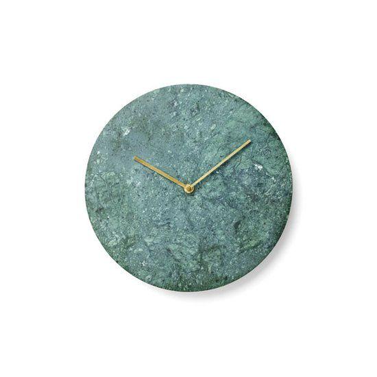 Menu marmer klok rond keramiek ø30 cm groen