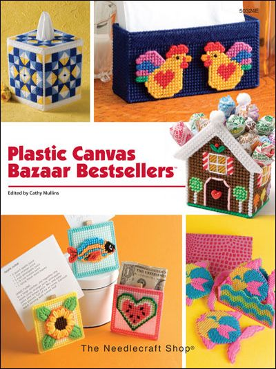 Plastic Canvas Bazaar Bestsellers    Technique - Plastic Canvas  All projects are quick to stitch and can be made in one day or less. We've filled this book with lots of quick-and-easy projects perfect for your next church bazaar, or last minute gifts for family and friends.     Skill Level: Beginner to Intermediate  Download Size: 178 page(s)