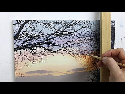 #52 How to paint an autumn tree | Oil Painting | Michael James Smith - YouTube