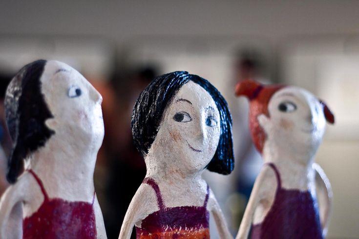 Carlotta Parisi - Le tre sorelle di Carlotta Parisi - ParticolareScultura in papier-maché e ferro