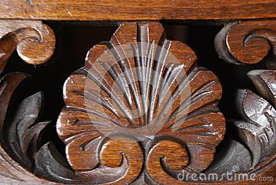 Beautiful pattern sculpted in wood