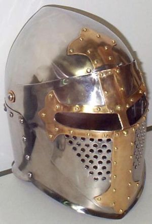 Early 14thCent Sugarloaf helm.  Not sure if historical or reprod.