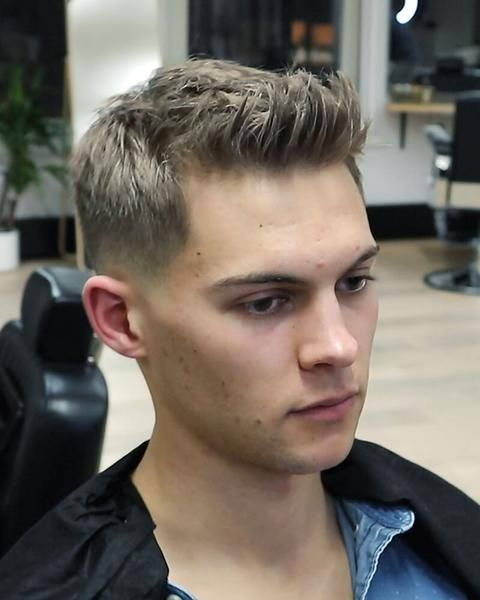 simple guy haircuts textured quiff easy to style mens haircut 4296 | ead49b3ca4e22db47757c4a326efe66b