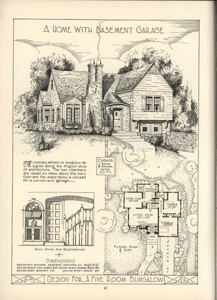 lake shore lumber coal house plans vintage house plansvintage housescottage - Vintage Storybook House Plans