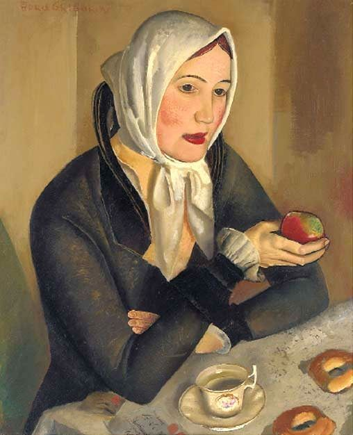Борис Григорьев «Женщина с яблоком»: