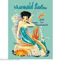 Mermaid Salon Tin Sign