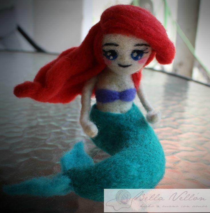 so cute mermaid <3 Vellón agujado. Hecho por mi para mi hija <3