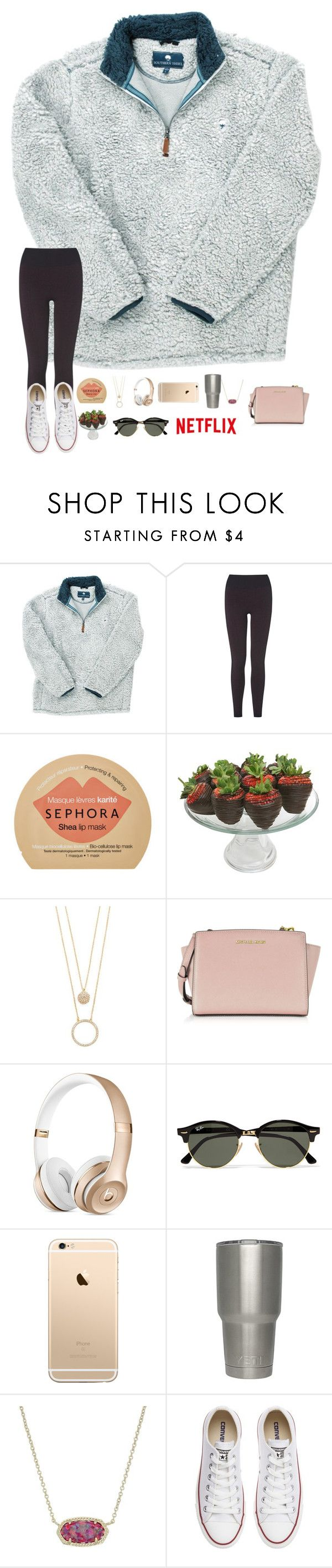 """""""•RTD for details!•"""" by mackenzielacy814 ❤ liked on Polyvore featuring L.K.Bennett, Sephora Collection, Golden Edibles, Kate Spade, Michael Kors, Ray-Ban, Kendra Scott and Converse"""