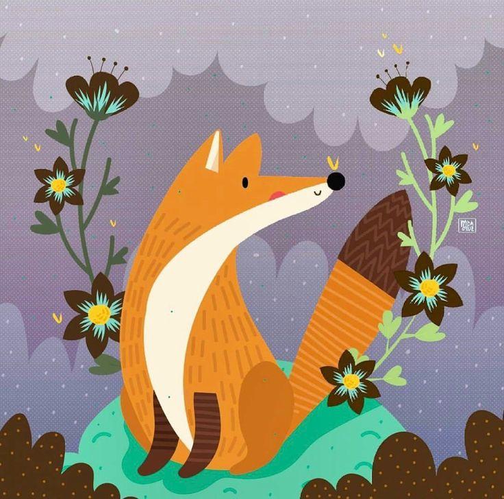 Сторона, открытки лис