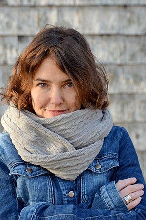 Foulard infini gris pâle par Rien ne se perd, tout se crée... www.rienneseperd.com