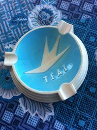 TEAL ashtray, Sold for $332.50 March 2017
