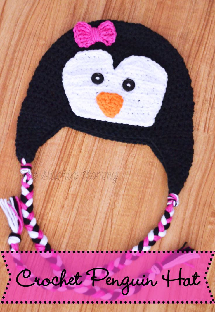 Crochet Penguin Hat - Free Pattern www.thestitchinmommy.com