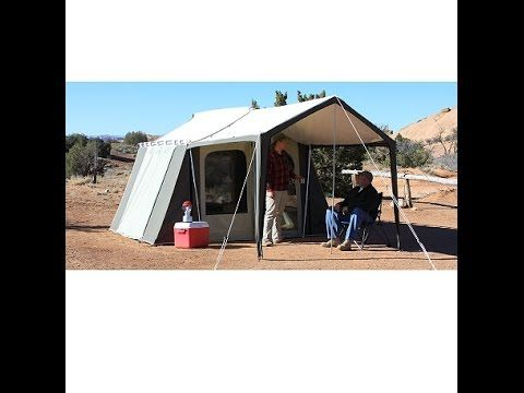 Kodiak Canvas Cabin Tent 6133 6 Person 9x12 With Deluxe Awning Canopy Competitive Edge